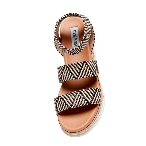 Steve Madden Bandi Blacktan Sandals